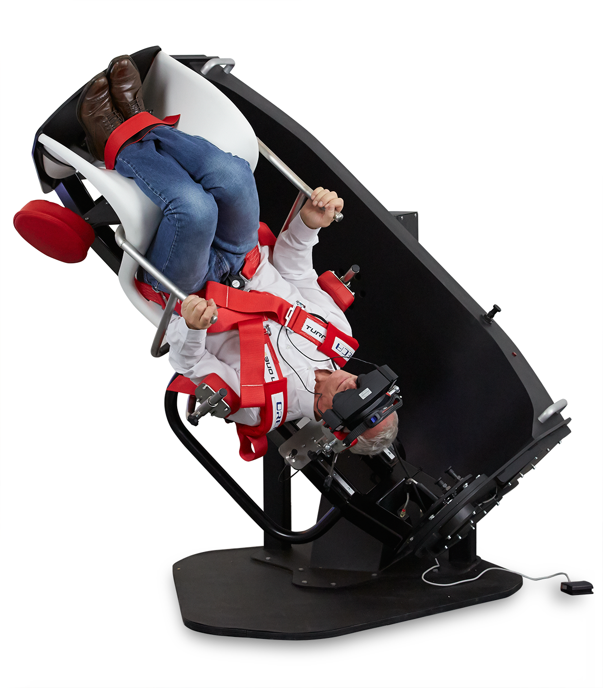 The TRV Chair is designed for diagnosis and treatment of Benign Paroxysmal Positional Vertigo (BPPV)