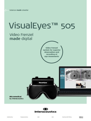 Brochure for VisualEyes 505