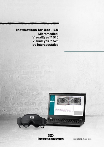 Instructions for use - VisualEyes