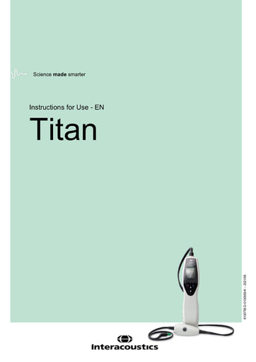 Instructions for use - Titan (English)